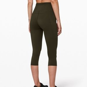 Lululemon Fast and Free Tight s4 olive green Nulux